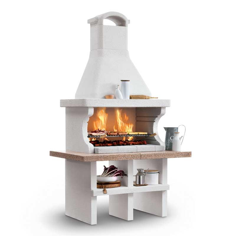 Barbecue a legna bianco